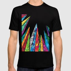 Up to the mountains Black MEDIUM Mens Fitted Tee