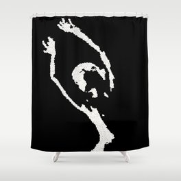 nude bw Shower Curtain