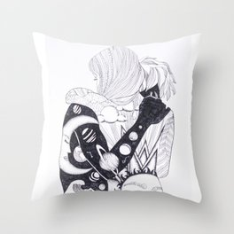 we were night and day Throw Pillow