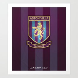 Aston Villa Print Art Print