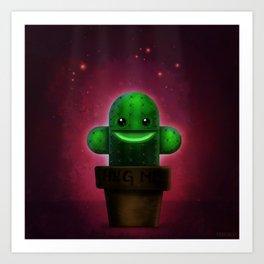 Lonely Cactus Art Print