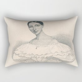 Portrait of Ballerina Rectangular Pillow