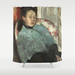 Portrait of Elena Carafa by Edgar Degas Shower Curtain