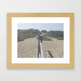 Along The Rail Framed Art Print