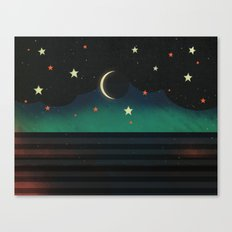 Abstract Moonscape Canvas Print