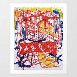 original oilstick painting modern Art Print