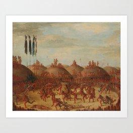 George Catlin - The Last Race Art Print
