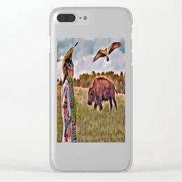 Native Lands Clear iPhone Case