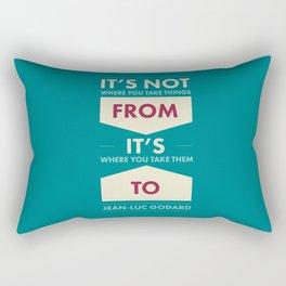 Godard (The quotes series) Rectangular Pillow