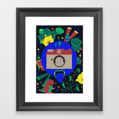 having too much fun to take pictures Framed Art Print
