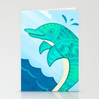 dolphin Stationery Cards featuring Dolphin by Claire Lordon