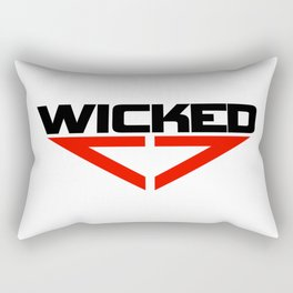 Wicked red Rectangular Pillow