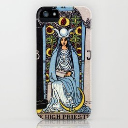 II. The High Priestess Tarot Card iPhone Case