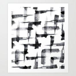 Abstract Brush Stokes Art Print