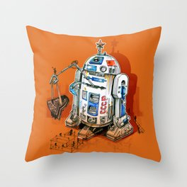 1st in space Throw Pillow
