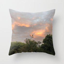 pink skys  Throw Pillow