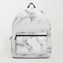 Deep Marble Texture Black White Backpack