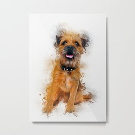 Border Terrier Metal Print