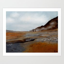 Sulfur Pits of Iceland Art Print