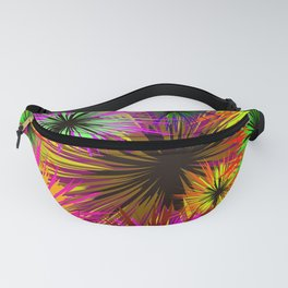 Shaggy flowers. Background of different colors shaggy, asters, dahlias Fanny Pack