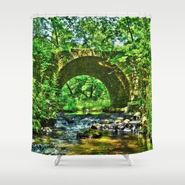 Historic Point Douglass-St. Louis River Road Bridge Shower Curtain