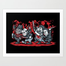 Where the Slashers Are (Grayscale) Art Print