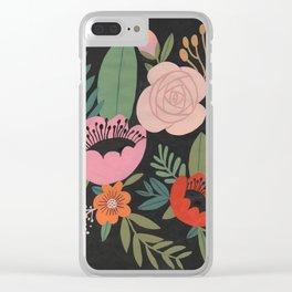 Floral Guache Clear iPhone Case