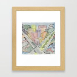 Three Points Framed Art Print
