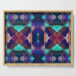 Abstract Patchwork Serving Tray