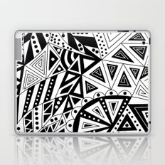 Black and white abstract pattern. Laptop & iPad Skin