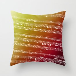 Double Bass Concerto Music on Red Throw Pillow