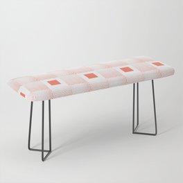 Rachel's Wavy Coral Pattern Bench