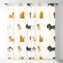 dogs dog dogs Blackout Curtain