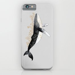 Floral Whale iPhone Case