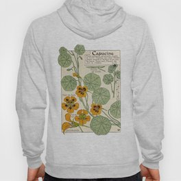 Maurice Verneuil - Capucine - botanical poster Hoody
