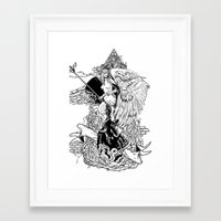 lolita Framed Art Prints featuring Lolita by ibodibod