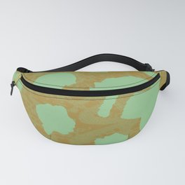 Bold Green Cheetah Pop - Abstract Textile Animal Print Fanny Pack