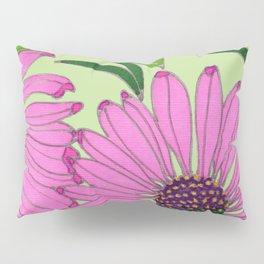 Echinacea on Pistachio Pillow Sham