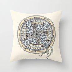 Paisley Balance Mandala Throw Pillow