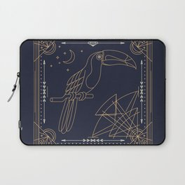 Toucan Gold on Black Laptop Sleeve
