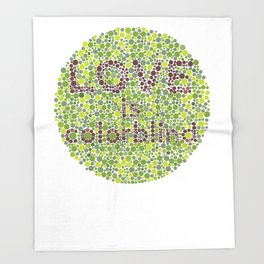 Love is Colorblind Throw Blanket