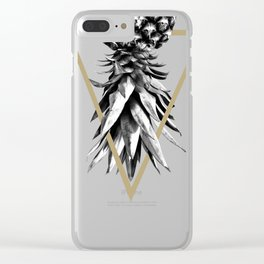 Pineapple Upside Down Geo #1 #tropical #fruit #decor #art #society6 Clear iPhone Case