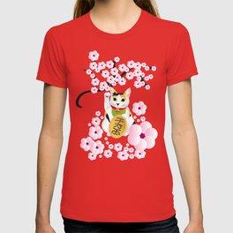 Sakura Maneki Neko T-shirt