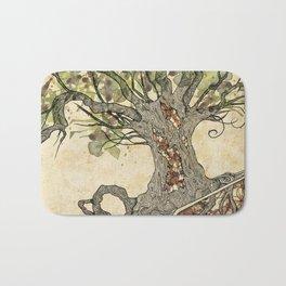 Textured tree Bath Mat