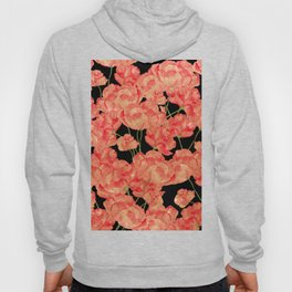 Abstract black gold glitter red watercolor poppy floral Hoody