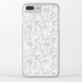Winter patterns on the window. Clear iPhone Case