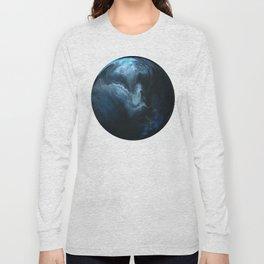 Blue Smoke on White Long Sleeve T-shirt
