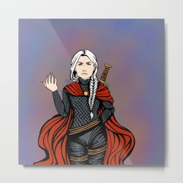RED CAPE Metal Print