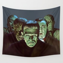 Famous Monsters Gang Wall Tapestry