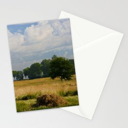 Landscape with a mowed grass Stationery Cards